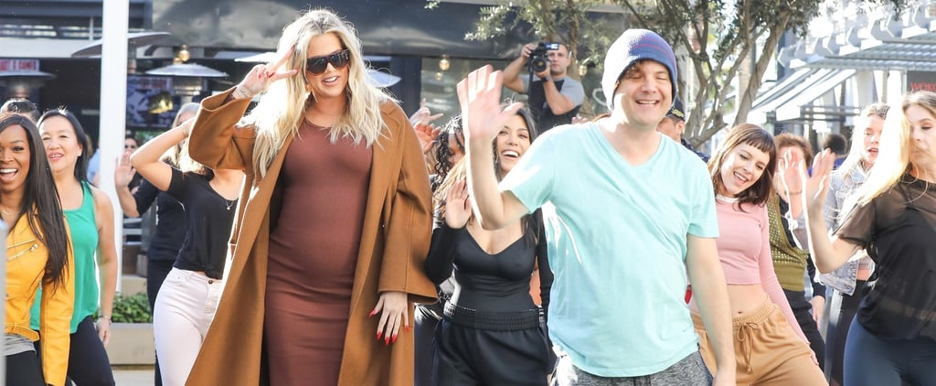 Khloé and Kourtney Surprise Kim With a Flash Mob at the Mall, and Her Reaction Is So Kim