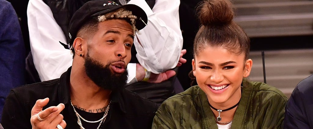 Zendaya and Odell Beckham Jr. at Knicks Game November 2016