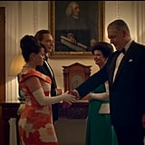 The Royals Meet President Johnson (Clancy Brown) and the First Lady (Suzanne Kopser)