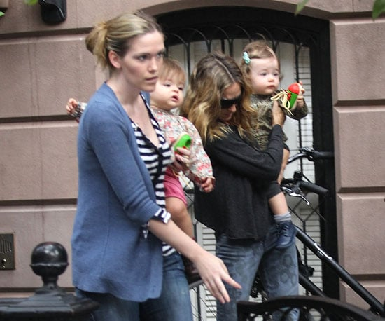 Pictures of Sarah Jessica Parker With Daughters Loretta and Tabitha in NYC