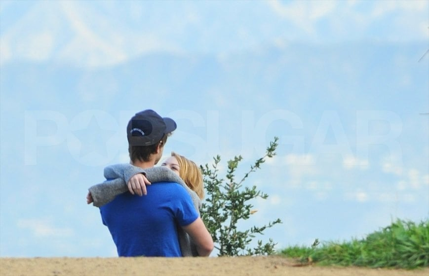 Emma Stone and boyfriend Andrew Garfield hugged during an LA hike.