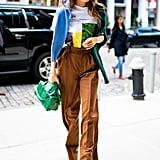 Gigi Hadid at New York Fashion Week in Wandler Boots