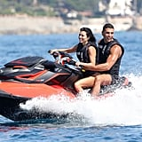 Kourtney Kardashian and Younes Bendjima in Cannes May 2017