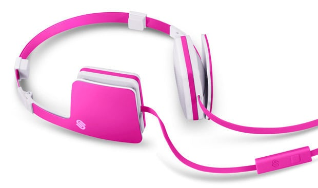 A hot pink rendition in a modern square silhouette is ideal for the sporty type.  Urbanista Copenhagen Pink Panther Headphones ($99)