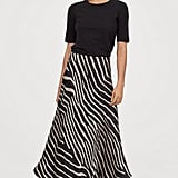 H&M Flared Satin Skirt