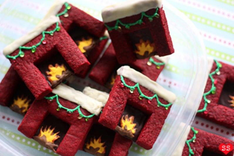 Red Velvet Shortbread Fireplaces