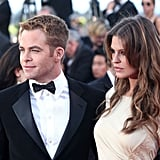 Chris Pine and Dominique Piek make a good-looking duo.