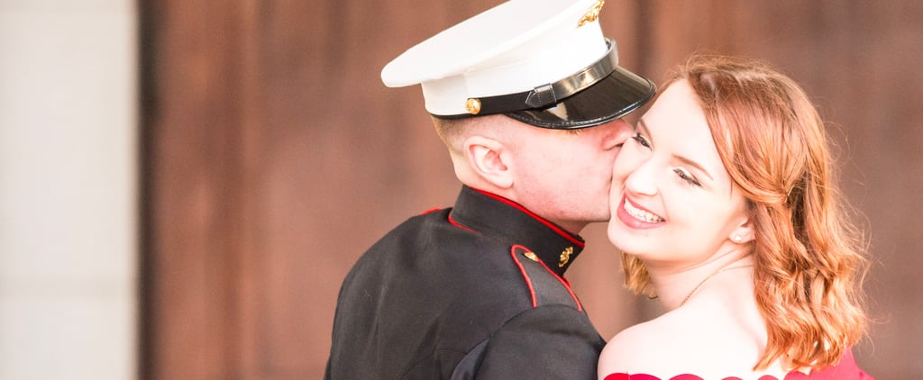 This Sweet Spring Engagement Will Make You Want to Get Yourself a Marine