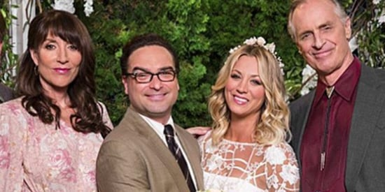 Kaley Cuoco Got TV-Married To Ex Johnny Galecki On 'Big Bang Theory' In A Boho Wedding Dress
