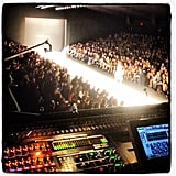 From her DJ booth, Chelsea Leyland had an incredible vantage of the Naeem Khan show. Source: Instagram user chelsealeyland