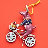 Cycling Reindeer Ornament