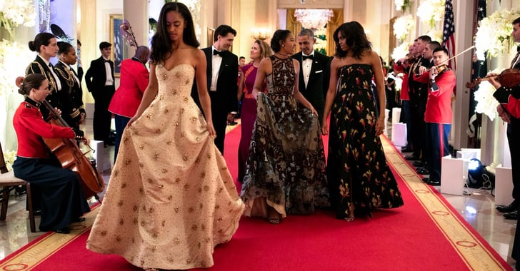 Malia And Sasha Obama At State Dinner 2016 Popsugar