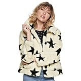 POPSUGAR Printed Faux-Fur Coat