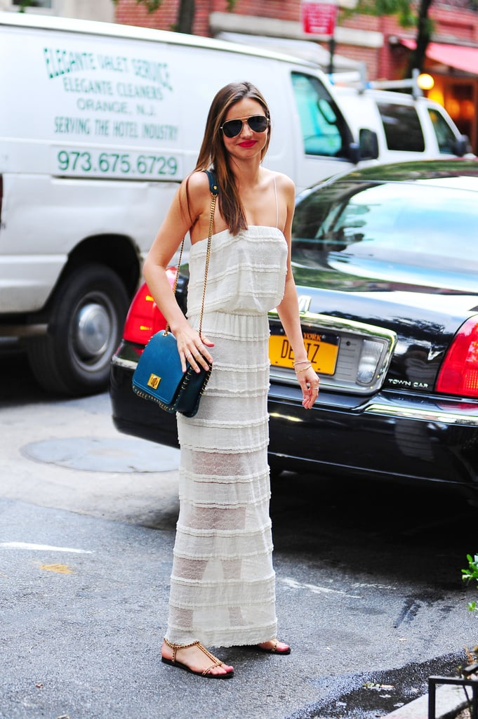 Miranda Kerr was a vision in white out and about in New York City — and with a body like that, why not wear sheer!
