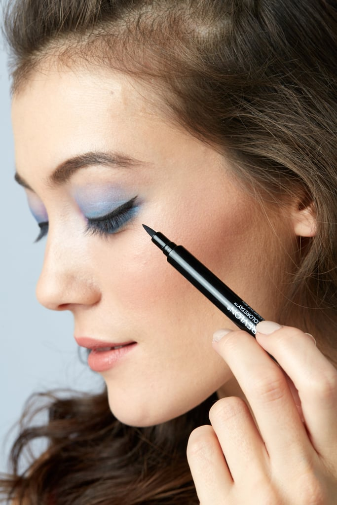 Step 3: Get flirty with liquid eyeliner
