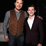 When Chris Pratt and Tom Holland Looked Dapper All the Way Back in 2016