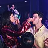 Nick and Priyanka Taking Birthday Shots at LIV