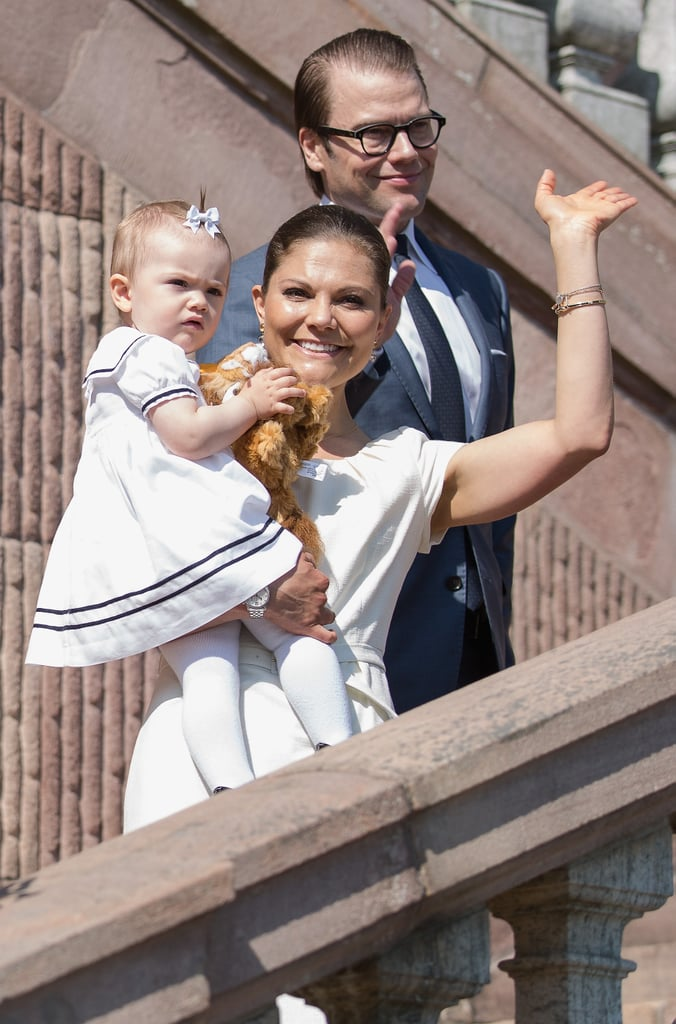 Prince Daniel, Princess Victoria, and Princess Estelle made for an adorable couple.