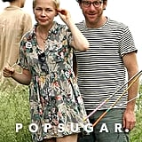 Michelle Williams and Dustin Yellin hung out at a Brooklyn park.
