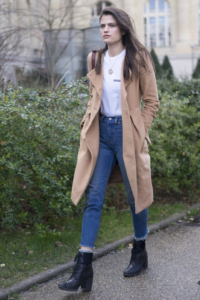 Polished With a Trench and Lace-Up Booties