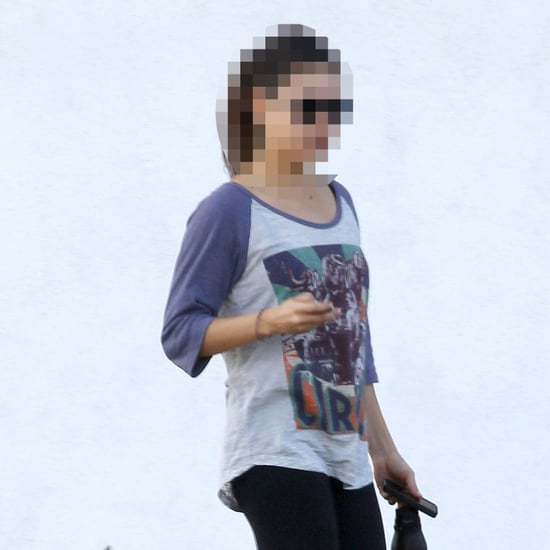 Celebrity Leaving Yoga in Circus Shirt