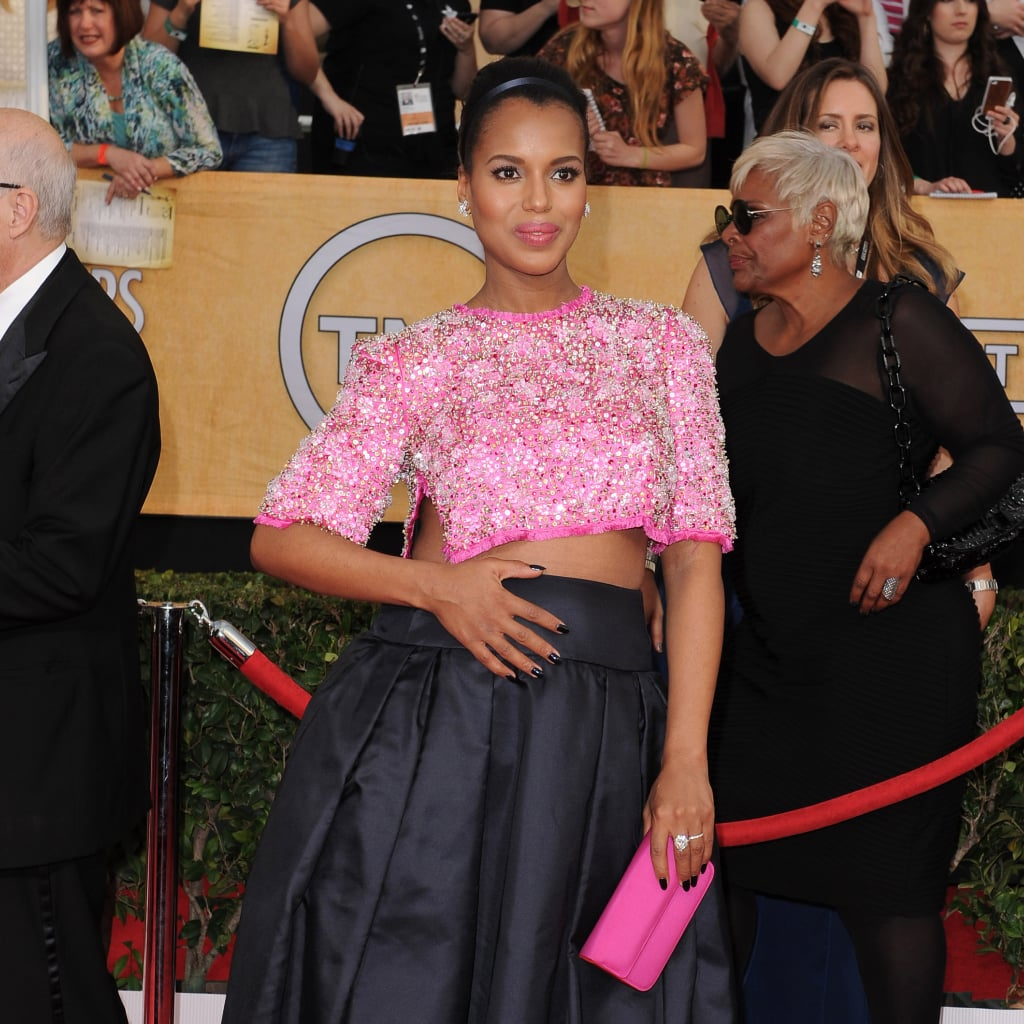 Kerry Washington's Maternity Crop Top and Scandal Style