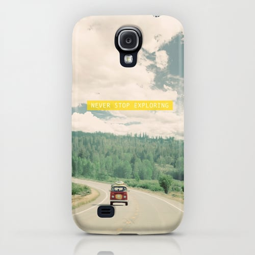 We love the photography on this nostalgia-inducing Never Stop Exploring ($35) case.