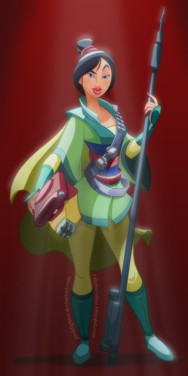 Star Wars Mulan Disney Princess Art Popsugar Love