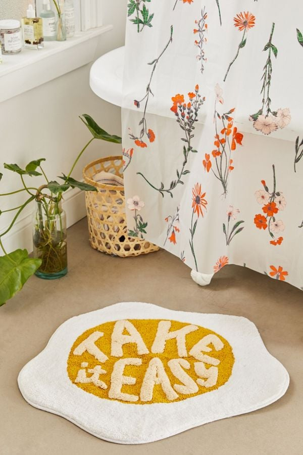 Take It Easy Bath Mat These Bath Mats From Urban Outfitters Are So Freakin Adorable You Ll Want All Of Them Popsugar Home Photo 15