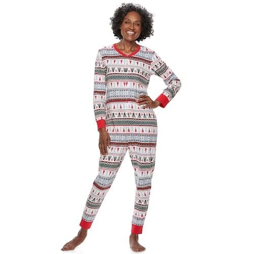 b839077ce6 Polar Bear Fairisle Family Pajamas One-Piece Pajamas