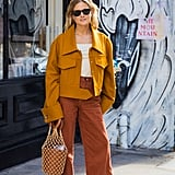 Style It With a Mustard Jacket and Burnt Orange Pants