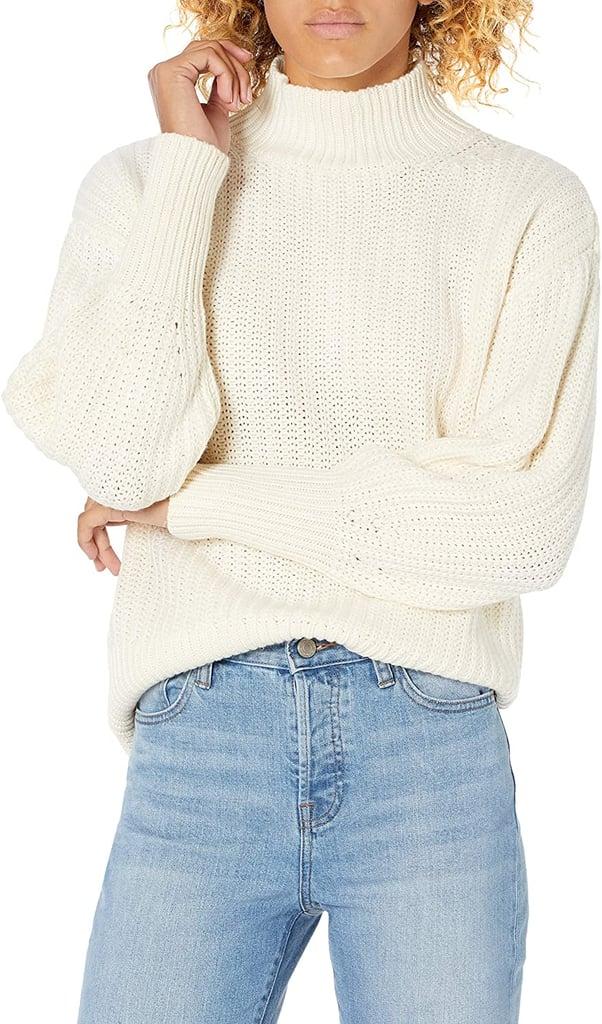 The Drop Ines Chunky Rib Mock-Neck Sweater