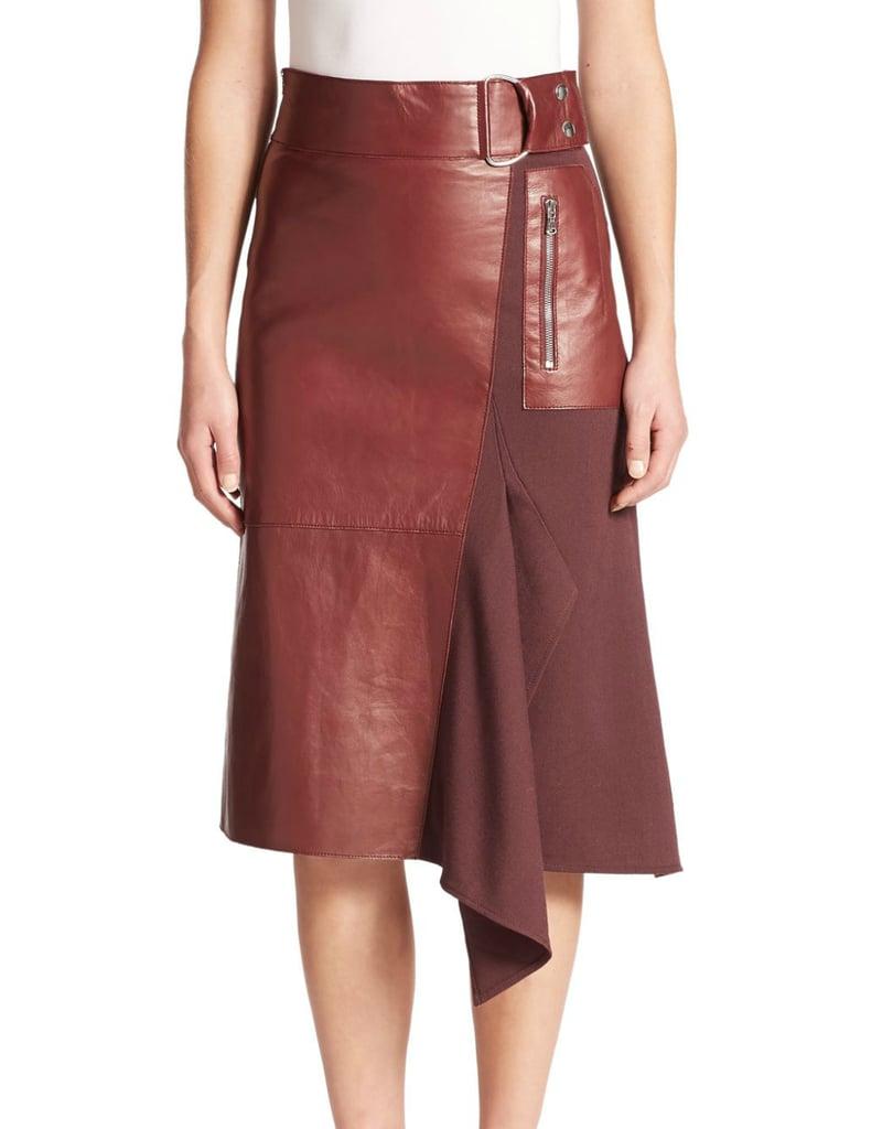 3.1 Phillip Lim Leather & Wool Midi Skirt ($895)