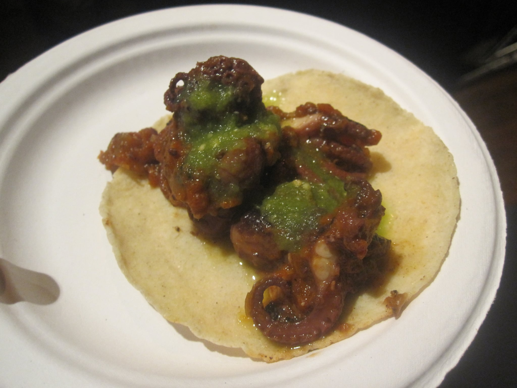 Roasted octopus taco: YUM!