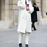 Winter white is always a good idea.