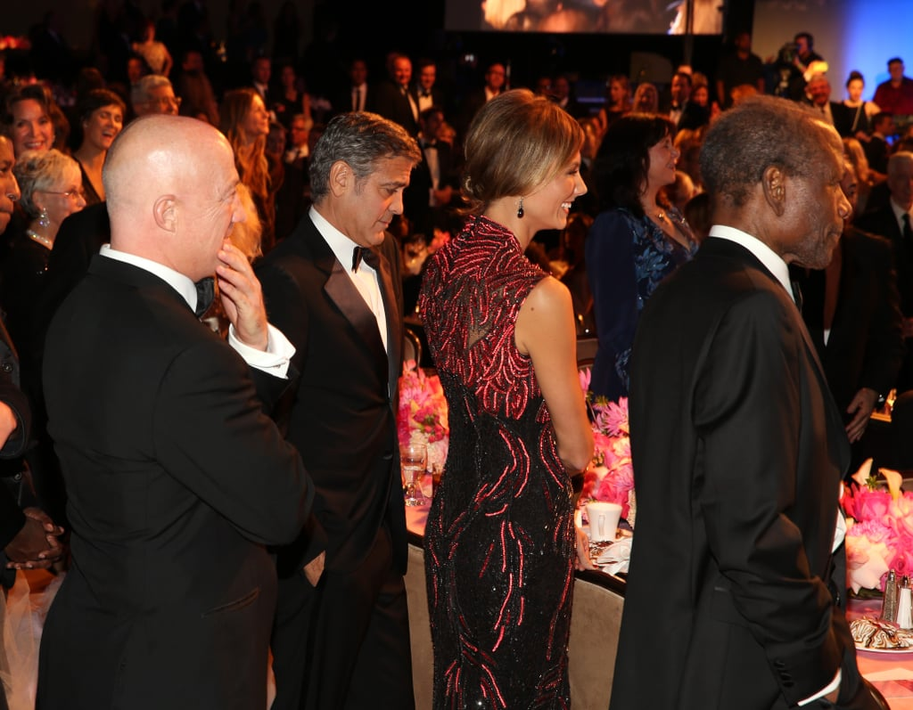 George Clooney Accepts a Big Honour With Stacy Keibler by His Side