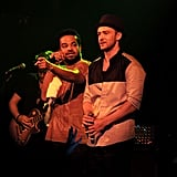 Justin Timberlake on stage in NYC.