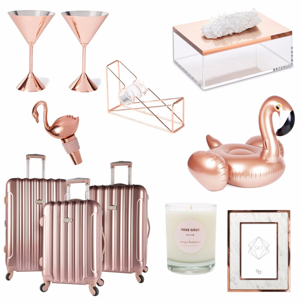 Rose gold home decor gifts popsugar home for Decoration rose gold