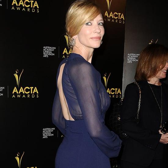 Cate Blanchett Navy Michael Kors Dress at AACTA Awards 2014