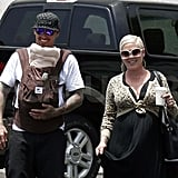 Pink and Carey Hart Make a Smiley Farmers Market Stop With Baby Willow