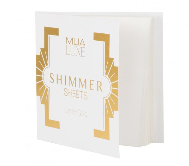 MUA Luxe Shimmer Sheet in White Gold (£3)