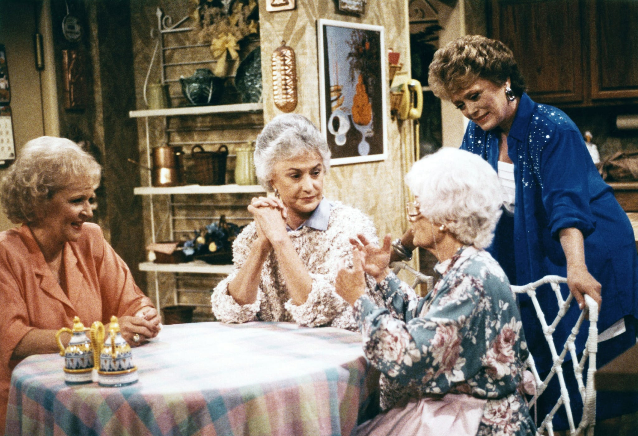 THE GOLDEN GIRLS, (from left): Betty White, Bea Arthur, Estelle Getty, Rue McClanahan, 1985-92.  Touchstone Television / Courtesy: Everett Collection