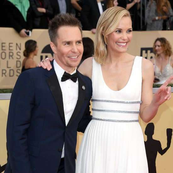 Sam Rockwell and Leslie Bibb at the 2018 SAG Awards