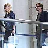 Kirsten Dunst walked with boyfriend Garrett Hedlund.