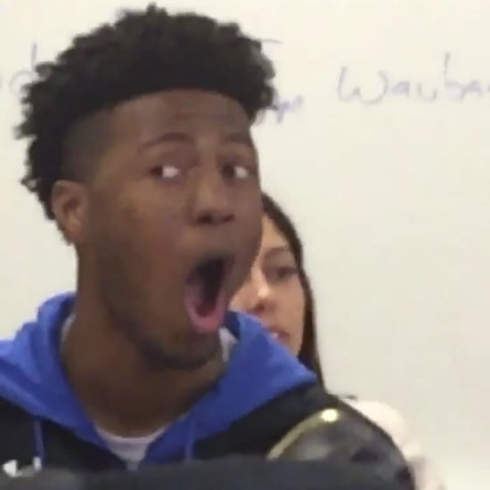 Viral Meme of High School Student Reacting to Animals