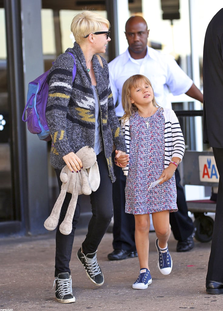 Michelle Williams and Matilda Ledger landed in NYC hand in hand.