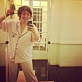 Lena Dunham left the house the pajamas, against her father's wishes. Source: Instagram user lenadunham