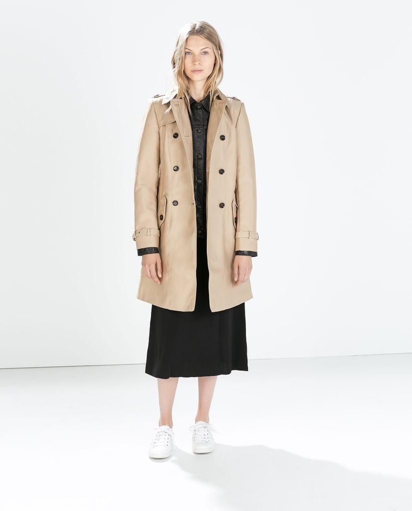 Zara Double Breasted Trench Coat