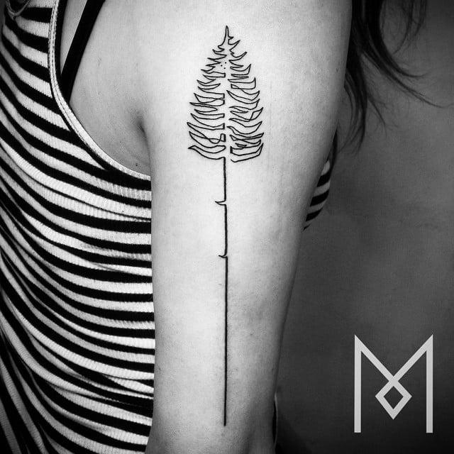Continuous Line Tattoos