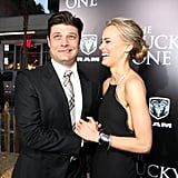 Jay R. Ferguson had Taylor Schilling in a fit of laughter at the premiere for The Lucky One in LA.